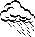 Drawing of rain cloud