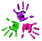 Image of children's handprints