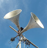 photo of horns to illustrate article about noise sensitivity in autism
