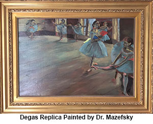 Degas replica painted by Dr. Carla Mazefsky, AIC researcher
