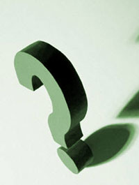 photo illustration of question mark, illustrating challenges in treating depression in people with autism