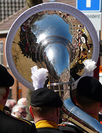 Photo of tuba being played