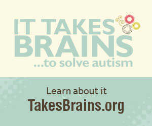 Logo for the It Takes Brains autism brain donation initiative