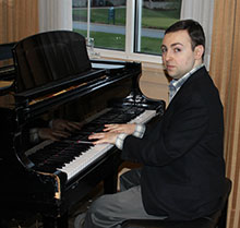 Photo of Brandon Beck, pianist, courtesy of Howard County Autism Society