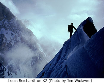 Photo of Louis Reichardt on K2 by Jim Wickwire