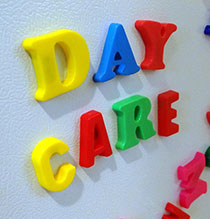Photo of letters spelling out day care