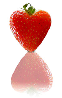 Photo of strawberry, for article about gastrointestinal problems in autism