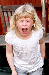 photo of girl having a tantrum to illustrate blog about autism and stigma