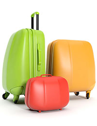 "photo of baggage, illustrating baggage of the word ""recovery"" in autism history"